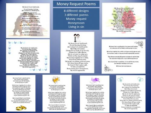Money Request Poems 3 different poems various designs